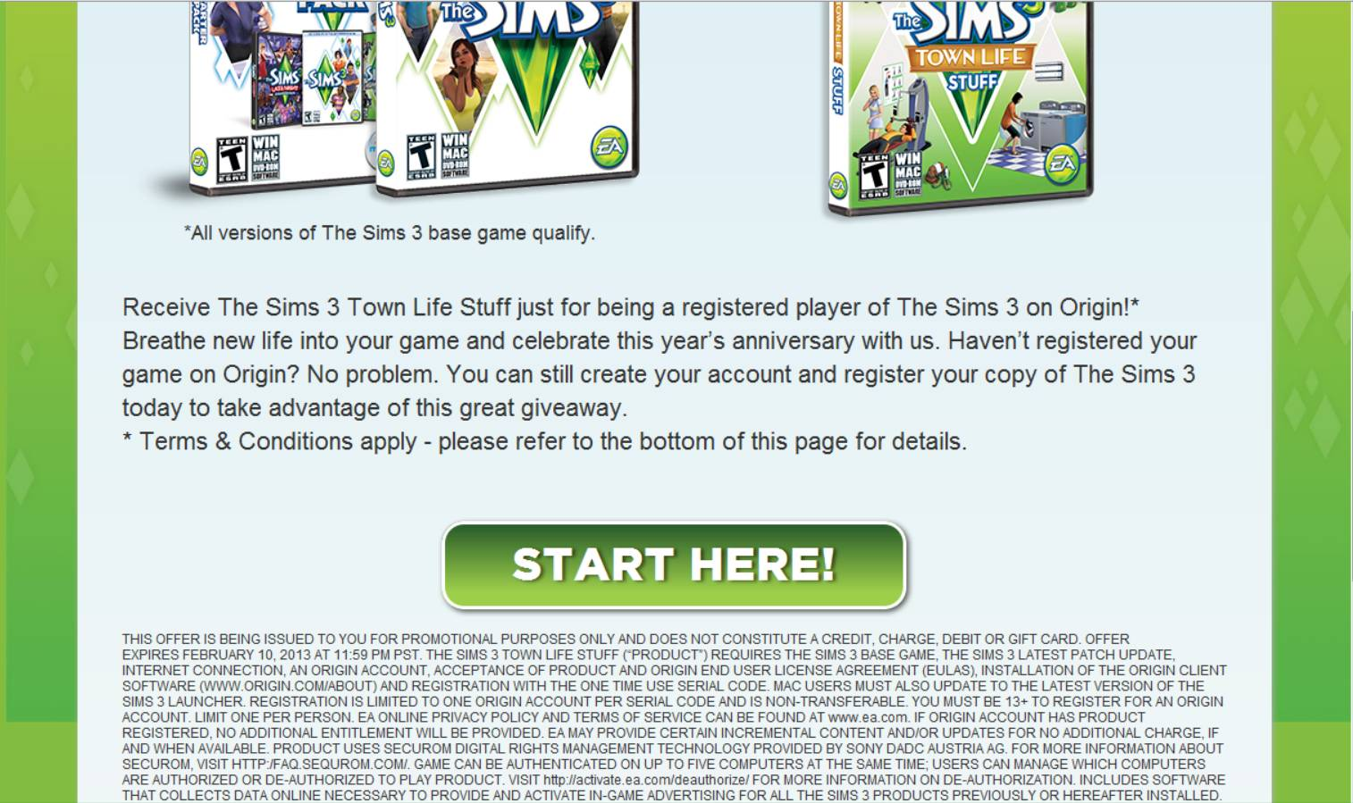 sims 3 serial code not working
