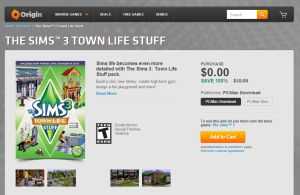sims 3 town life download free